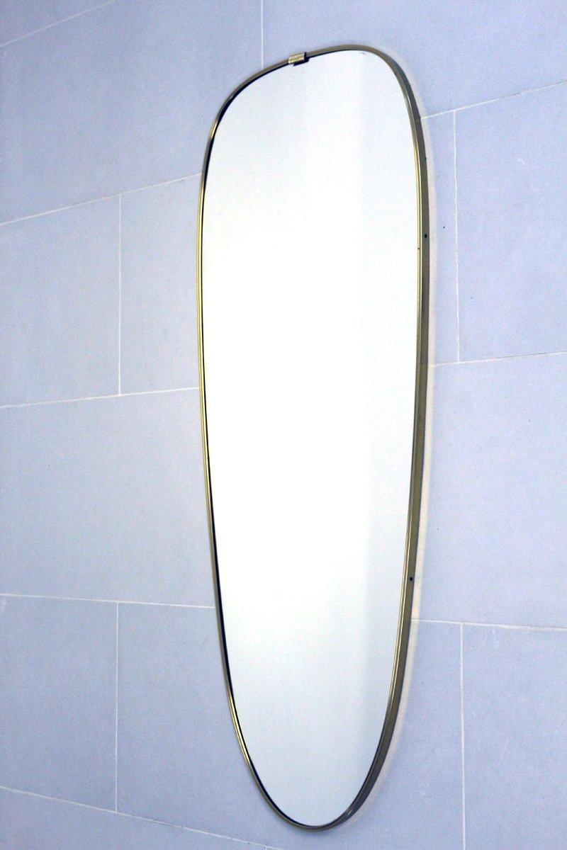 spiegel mit messingrahmen von lachmayr 1950er bei pamono