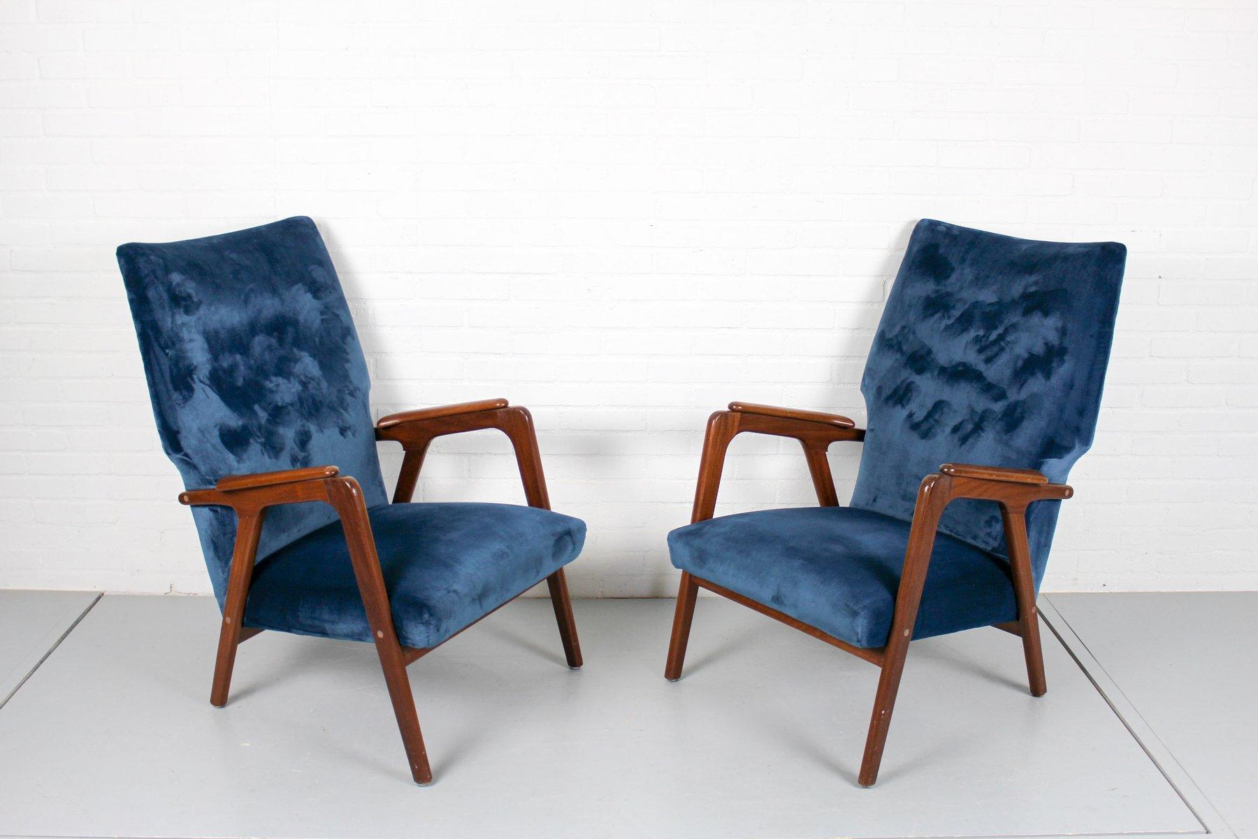 vintage danish wingback lounge chairs set of 2 cafe. Black Bedroom Furniture Sets. Home Design Ideas