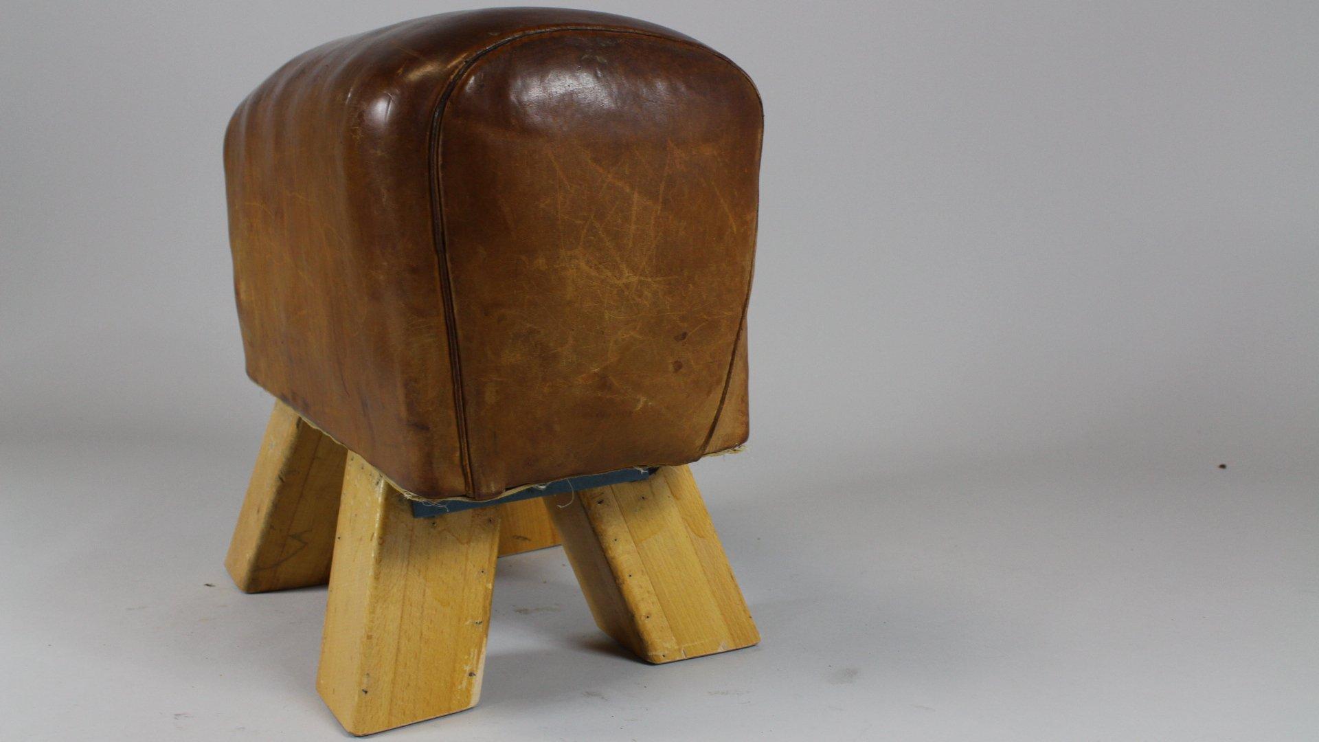Sgabello da ginnastica in pelle anni in vendita su pamono