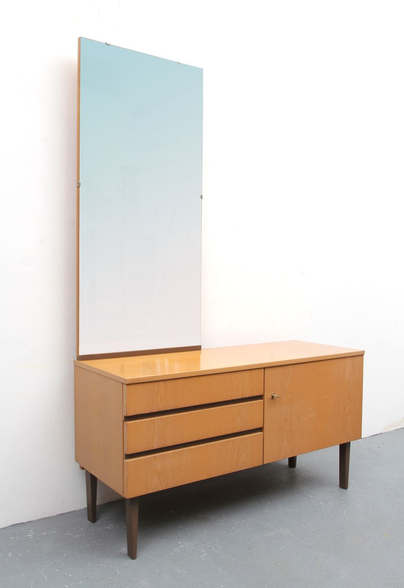 frisiertisch aus esche mit spiegel 1960er bei pamono kaufen. Black Bedroom Furniture Sets. Home Design Ideas