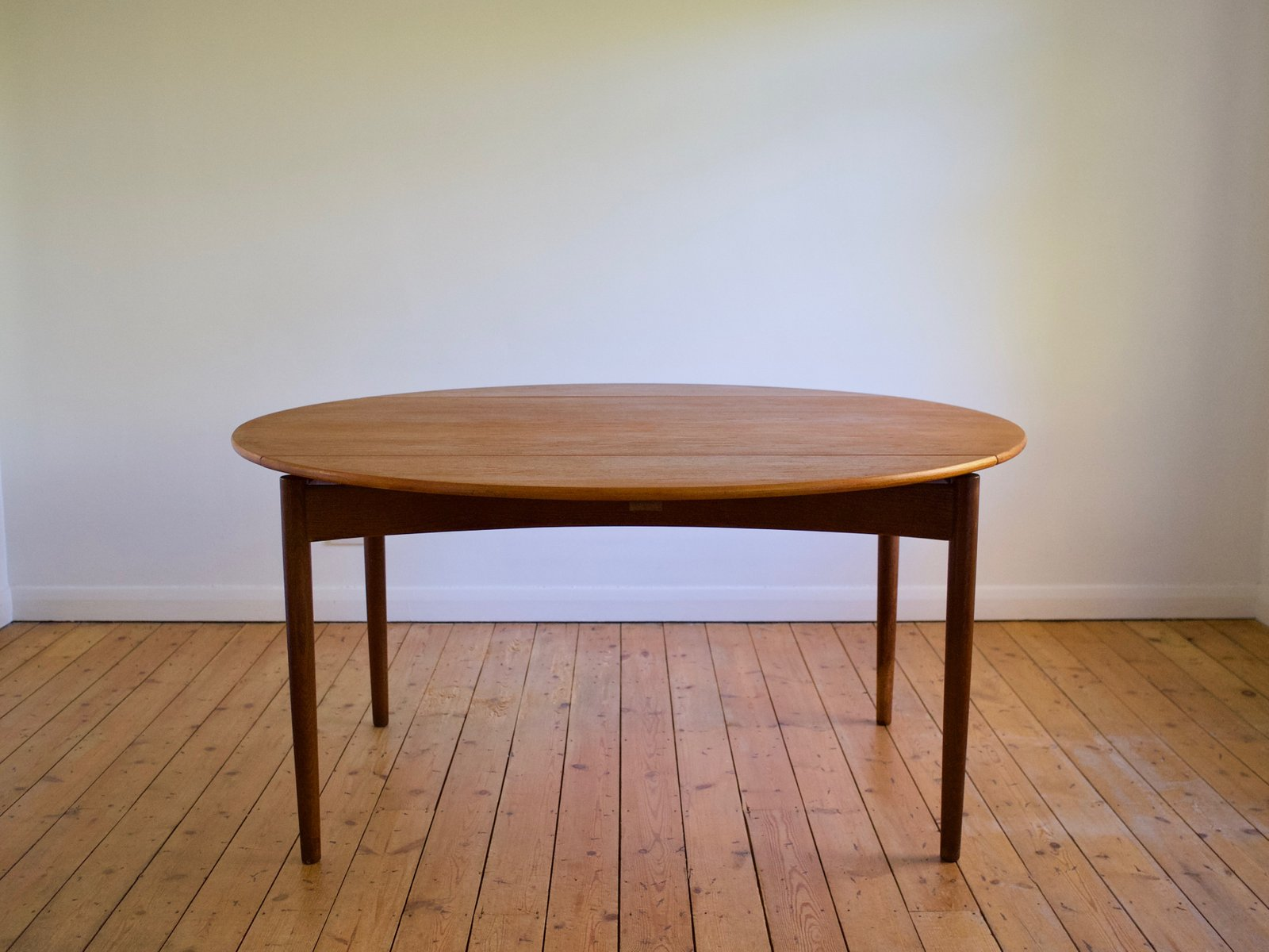 Danish Teak & Oak Dining Table by Svend Madsen for NBM, 1960s