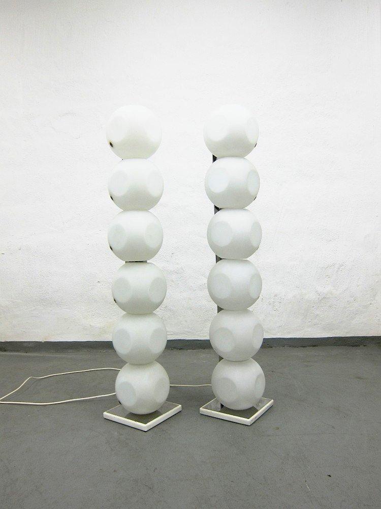 Kugel-Stehlampen von Luci, 1960er, 2er Set