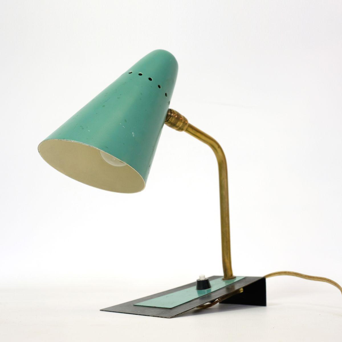 Kleine französische Mid-Century Nachttischlampe | Lampen > Tischleuchten > Nachttischlampen | Metall