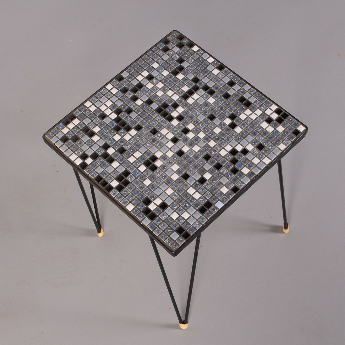 Vintage Mosaic Tiled Side Table With Hairpin Legs 1970s 5 219 00 Per Piece