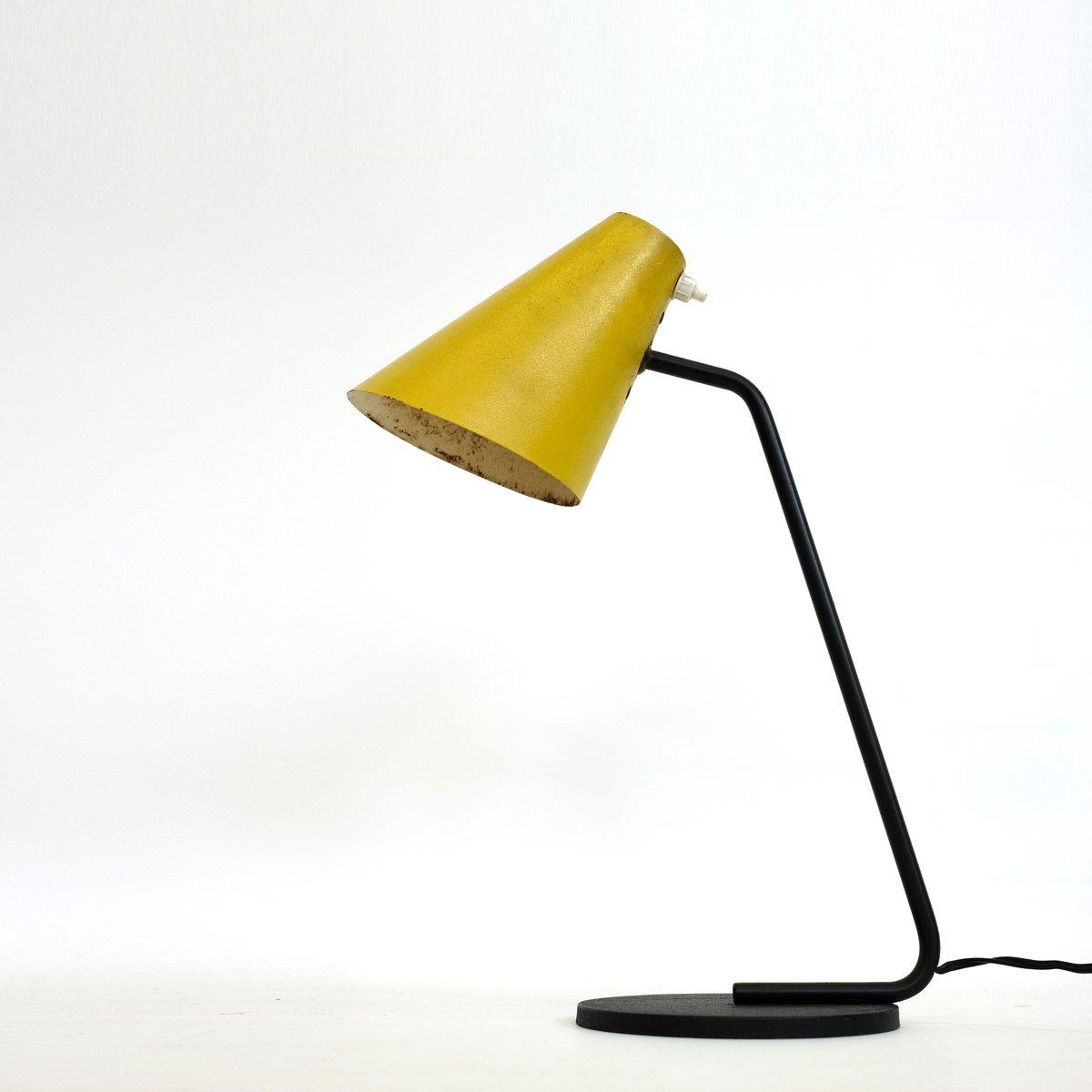 Lampe in Schwarz & Gelb, 1950er