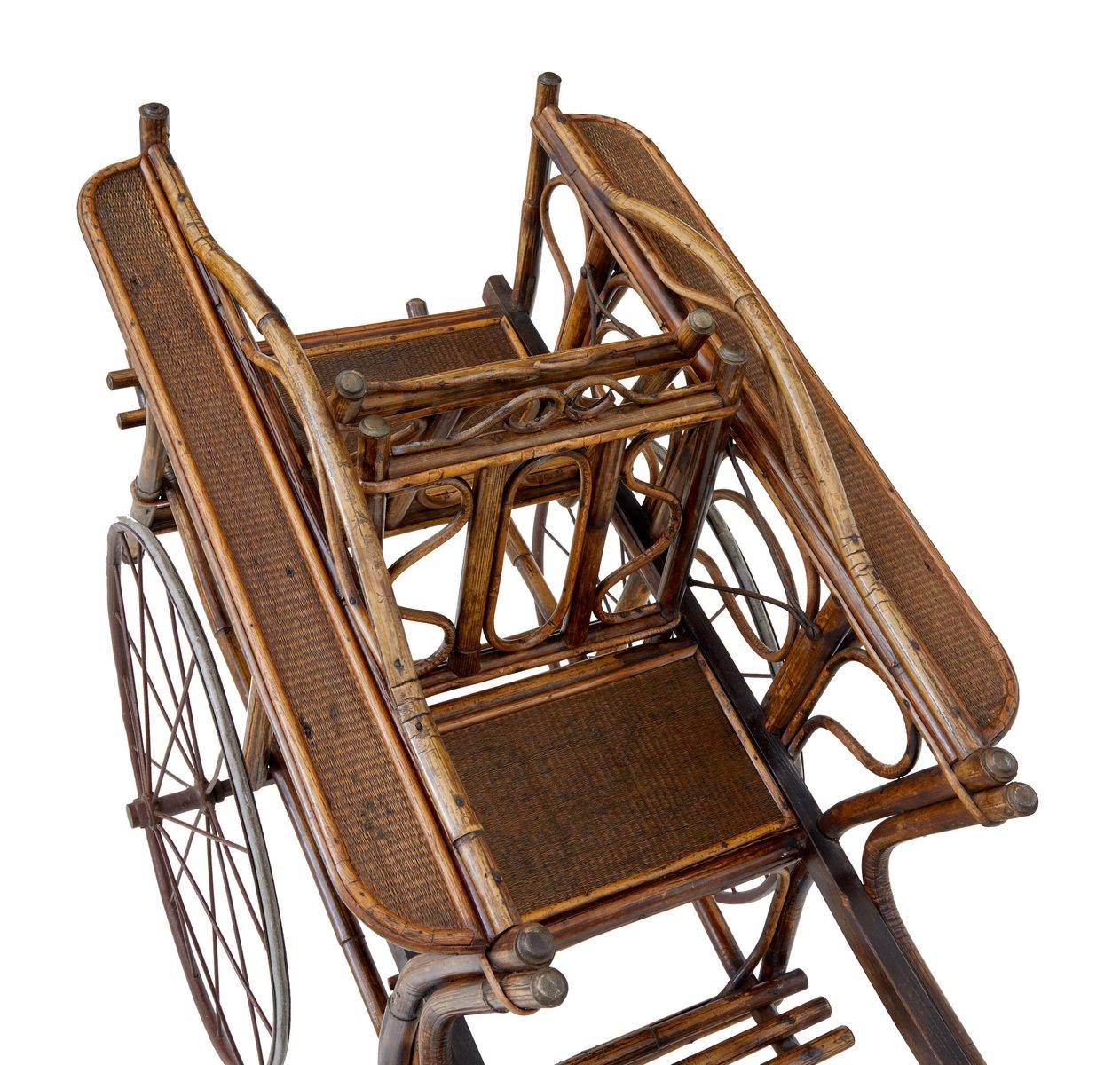 vintage 2 sitzer kinderwagen aus bambus bei pamono kaufen. Black Bedroom Furniture Sets. Home Design Ideas