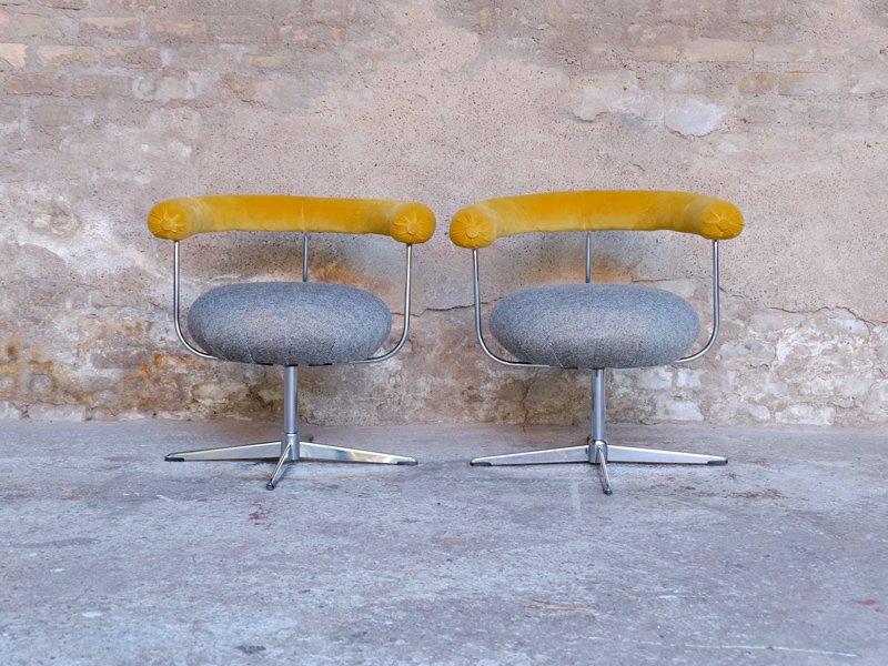 Drehbare Vintage Stühle, 2er Set