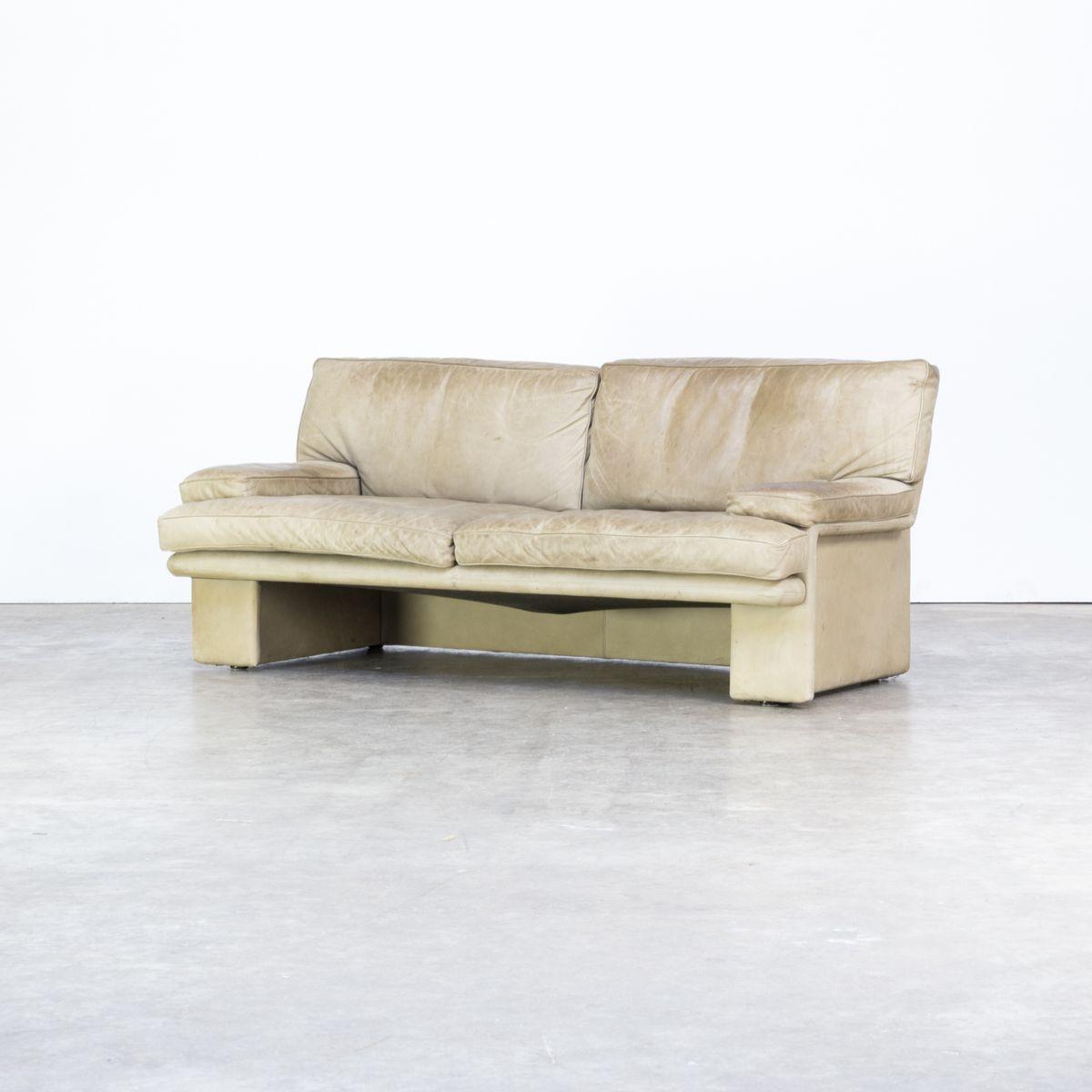 2-Sitzer Ledersofa von Walter Knoll für Knoll, 1970er