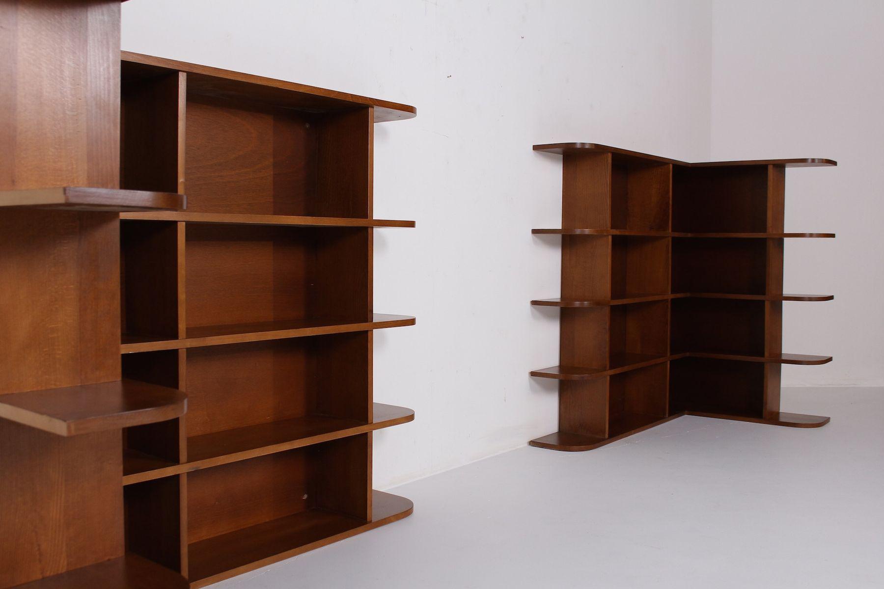 Librerie ad angolo moderniste, anni \'50, set di 2 in vendita su Pamono