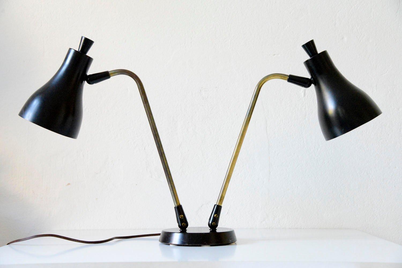 Doppelte Tischlampe von Gerald Thurston für Lightolier, 1955