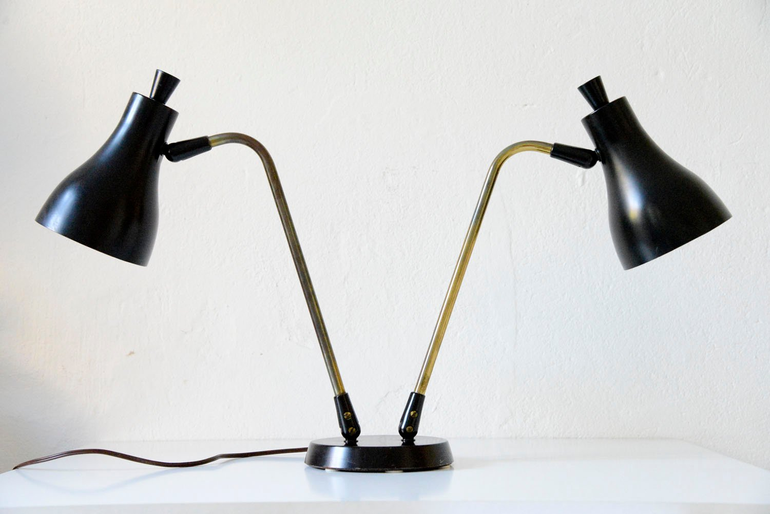 Double Table Lamp By Gerald Thurston For Lightolier, 1955