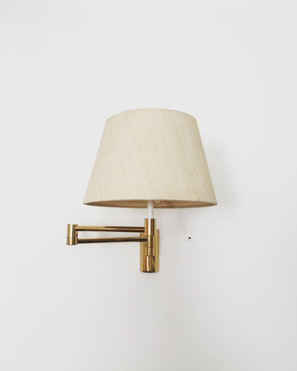 Anpassbare Messing Wandlampe von Cosack, 1960er