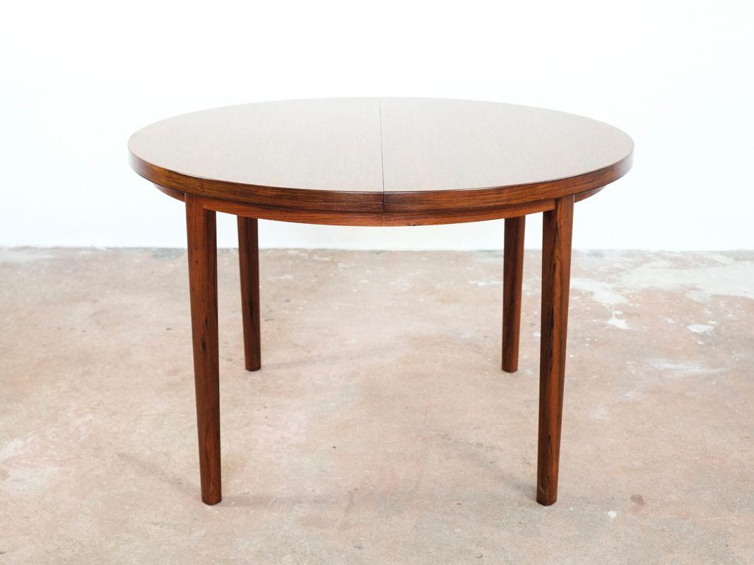 Ausziehbarer runder dänischer Tisch aus Palisander, 1960er