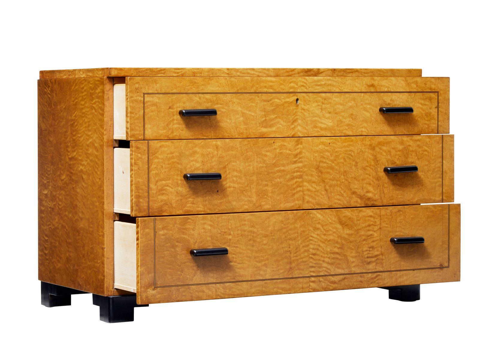 art deco kommode aus birke bei pamono kaufen. Black Bedroom Furniture Sets. Home Design Ideas