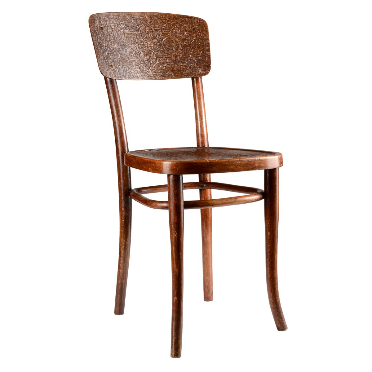 Incroyable Printed U0026 Decorated Wooden Chair From Gebrüder Thonet Vienna GmbH, 1920s