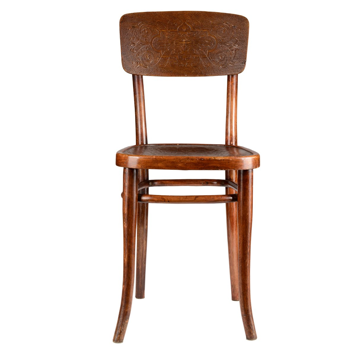 Printed U0026 Decorated Wooden Chair From Gebrüder Thonet Vienna GmbH, 1920s