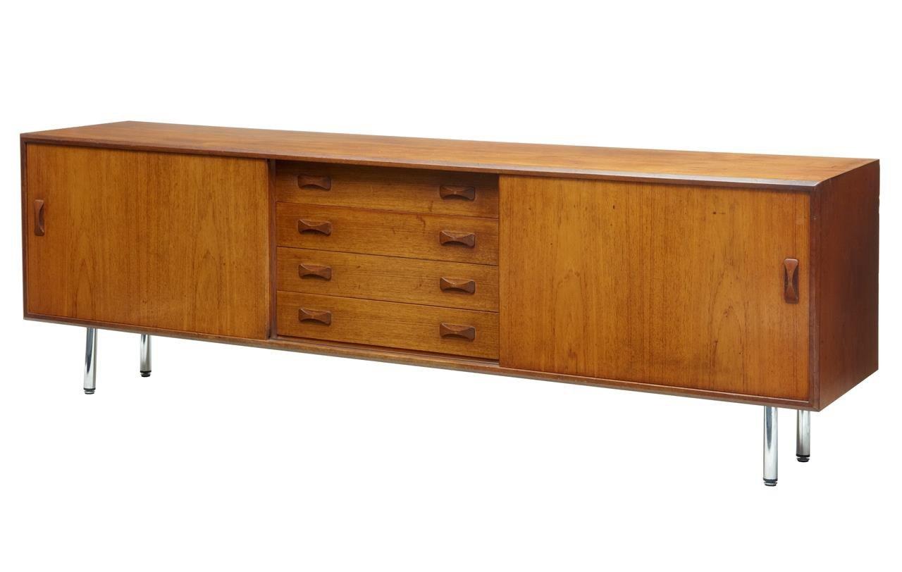 Großes dänisches Sideboard aus Teak von Clausen & Søn, 1960er