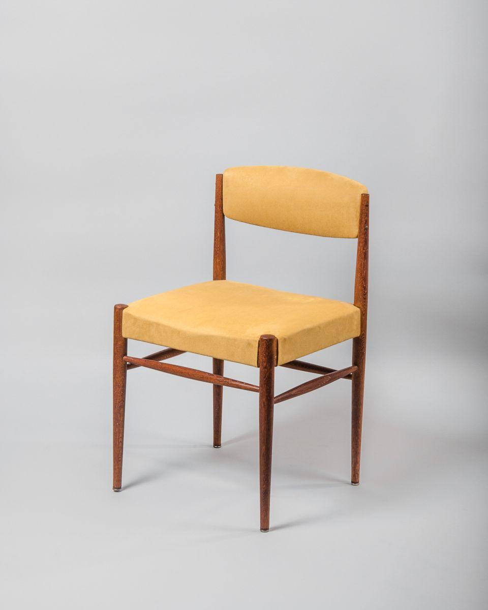 Dänische Stühle aus Set TeakAlcantara1960er6er Dänische aus Stühle eodxrCB