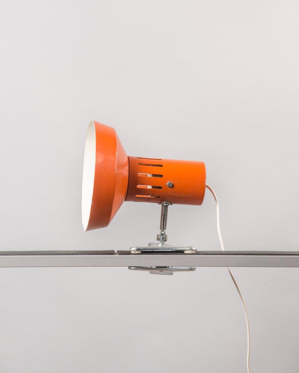 Lampe Flexible Avec Pince Orange France 1970s En Vente Sur Pamono