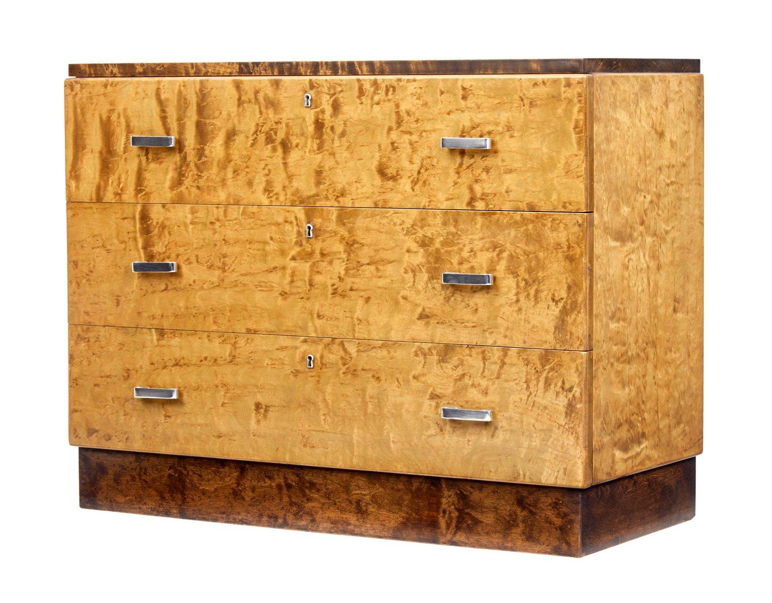 vintage art deco kommode aus birke bei pamono kaufen. Black Bedroom Furniture Sets. Home Design Ideas