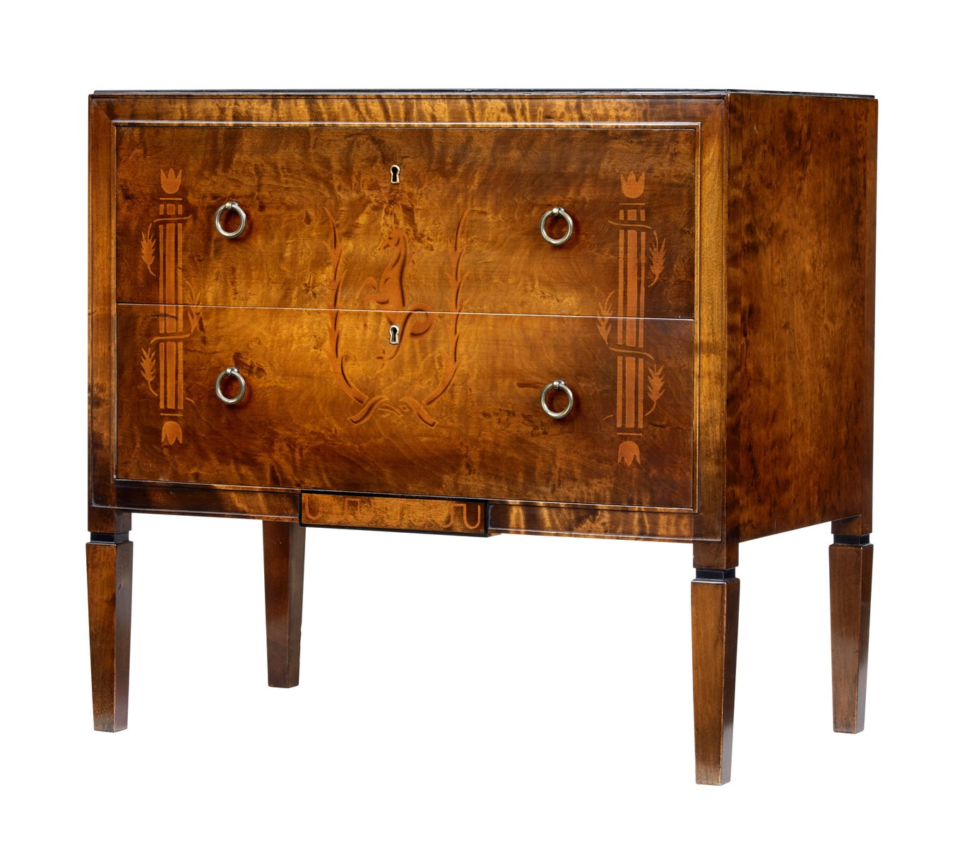 Small Mid Century Birch Decorative Chest Of Drawers