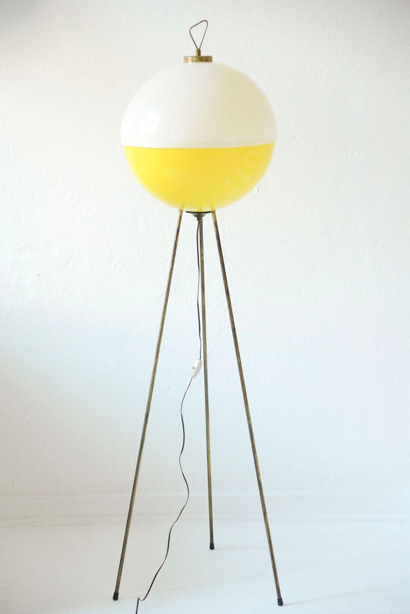 Space Age Sputnik Dreibein-Stehlampe von Gilardi & Barzaghi, 1950er