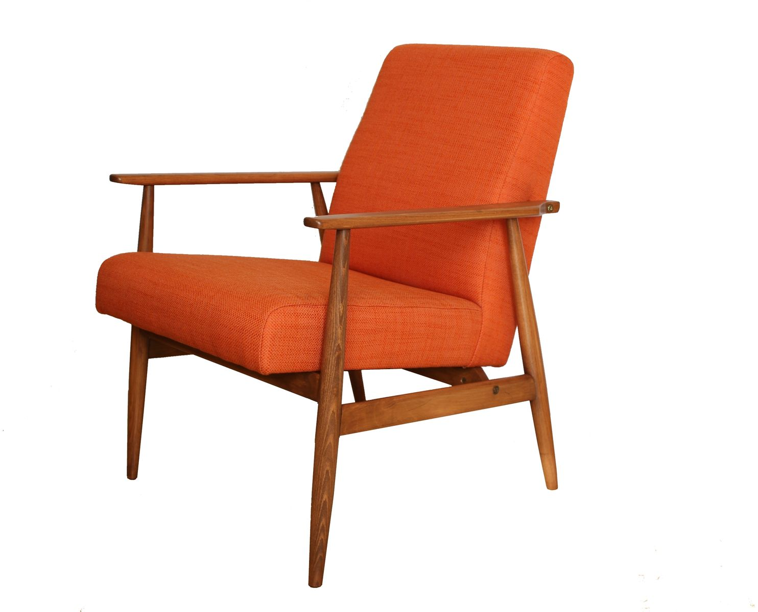 Moderner Mid-Century Sessel in Orange von Hanna Lis, 1960er