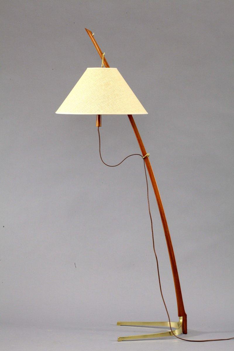 Anpassbare Dornstab Stehlampe von J. T. Kalmar für Kalmar, 1950er