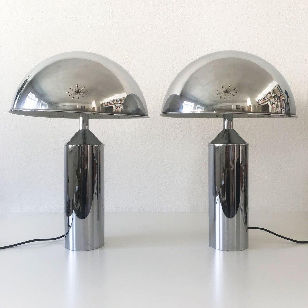 Große Mid-Century Modern Tischlampen von WKR, 1970er, 2er Set