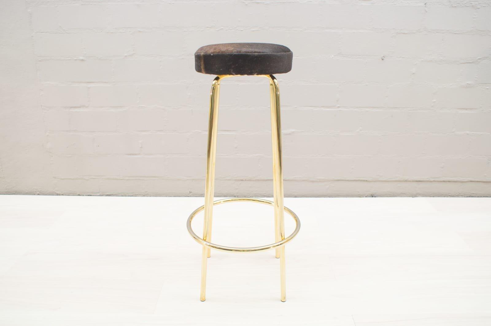 Sgabello Da Bar Moderno In Pelle : Sgabelli da bar mid century dorati in pelle di mucca anni