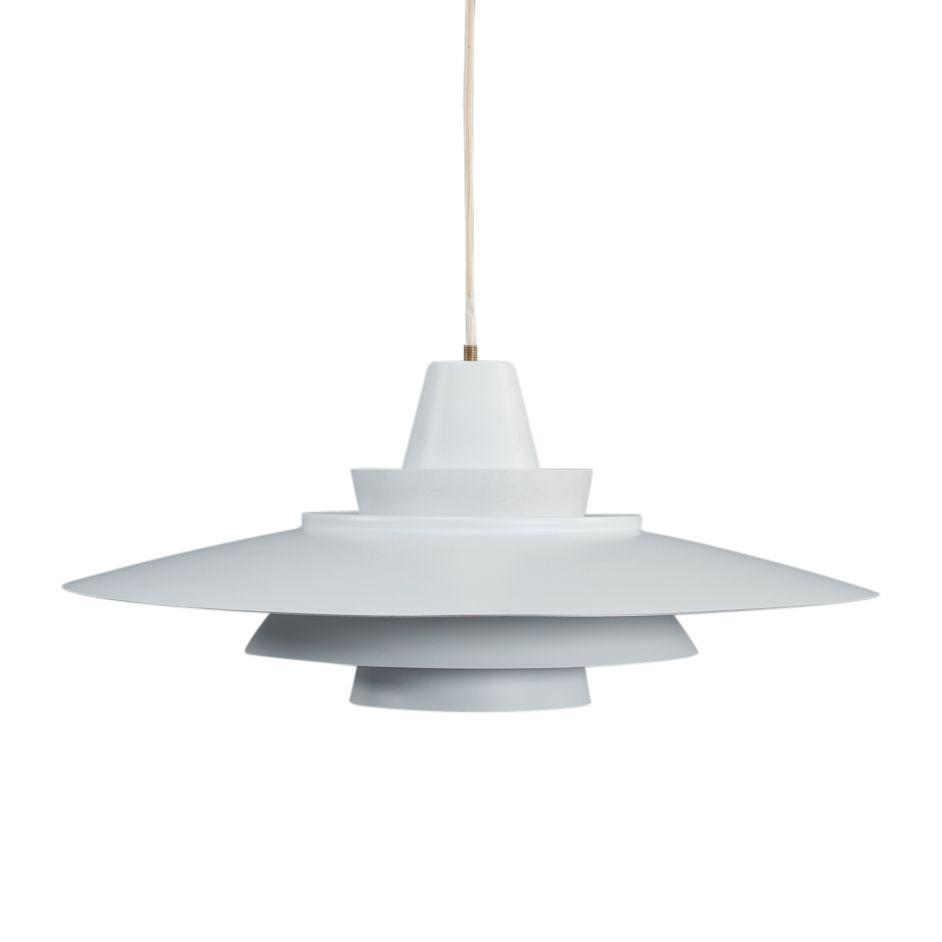Weiße dänische Lampe von Nordisk Solar, 1970er