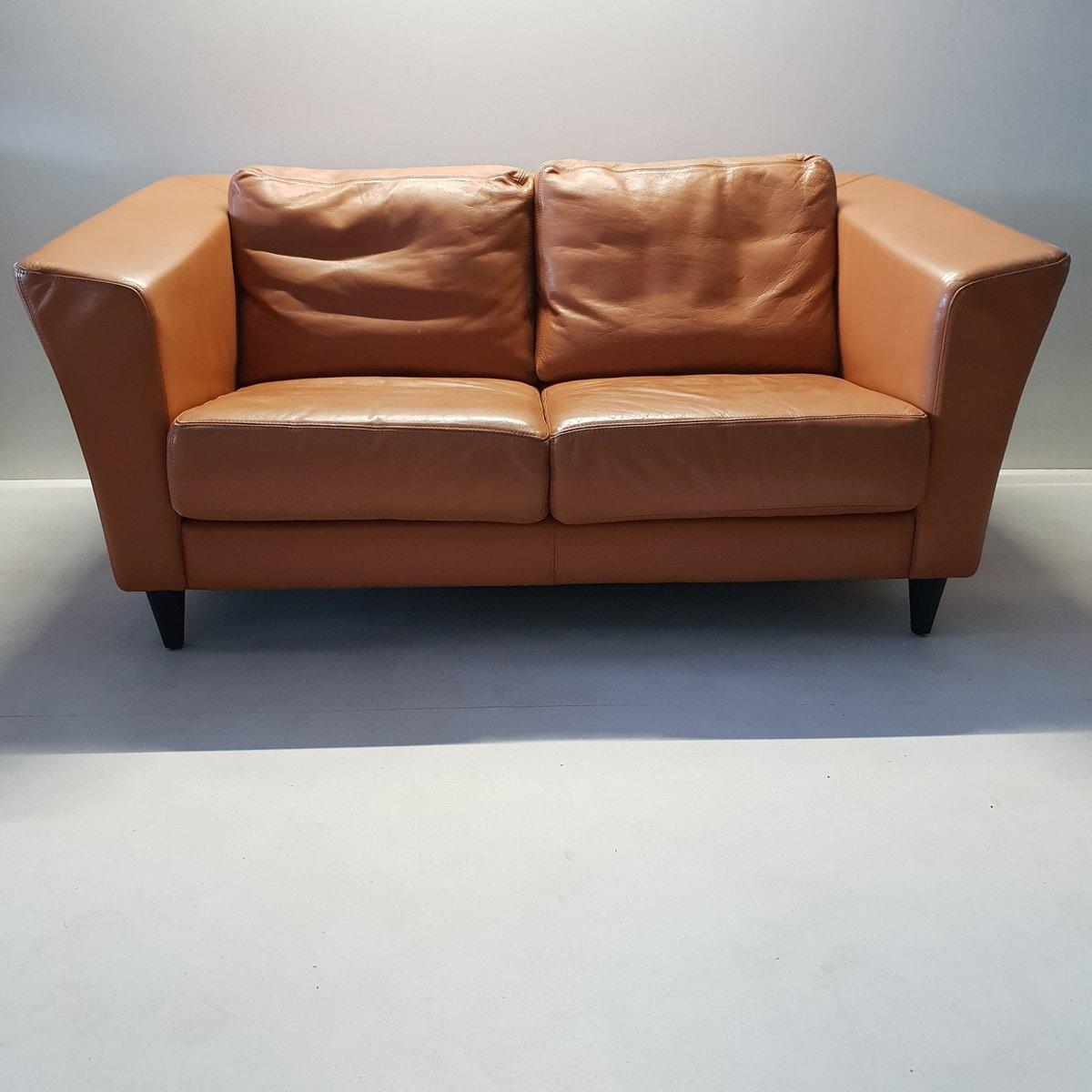 2-Sitzer Vintage Ledersofa von Molinari, 1990er