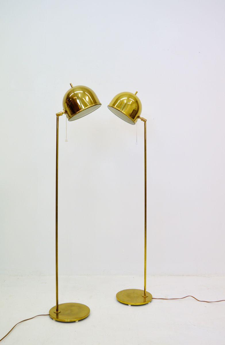 G-075 Stehlampe aus Messing von Bergboms, 1960er, 2er Set
