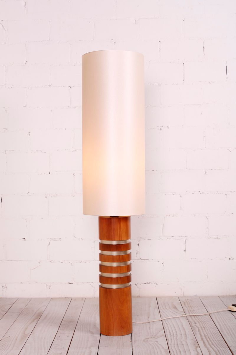 Zylindrische deutsche Stehlampe, 1960er