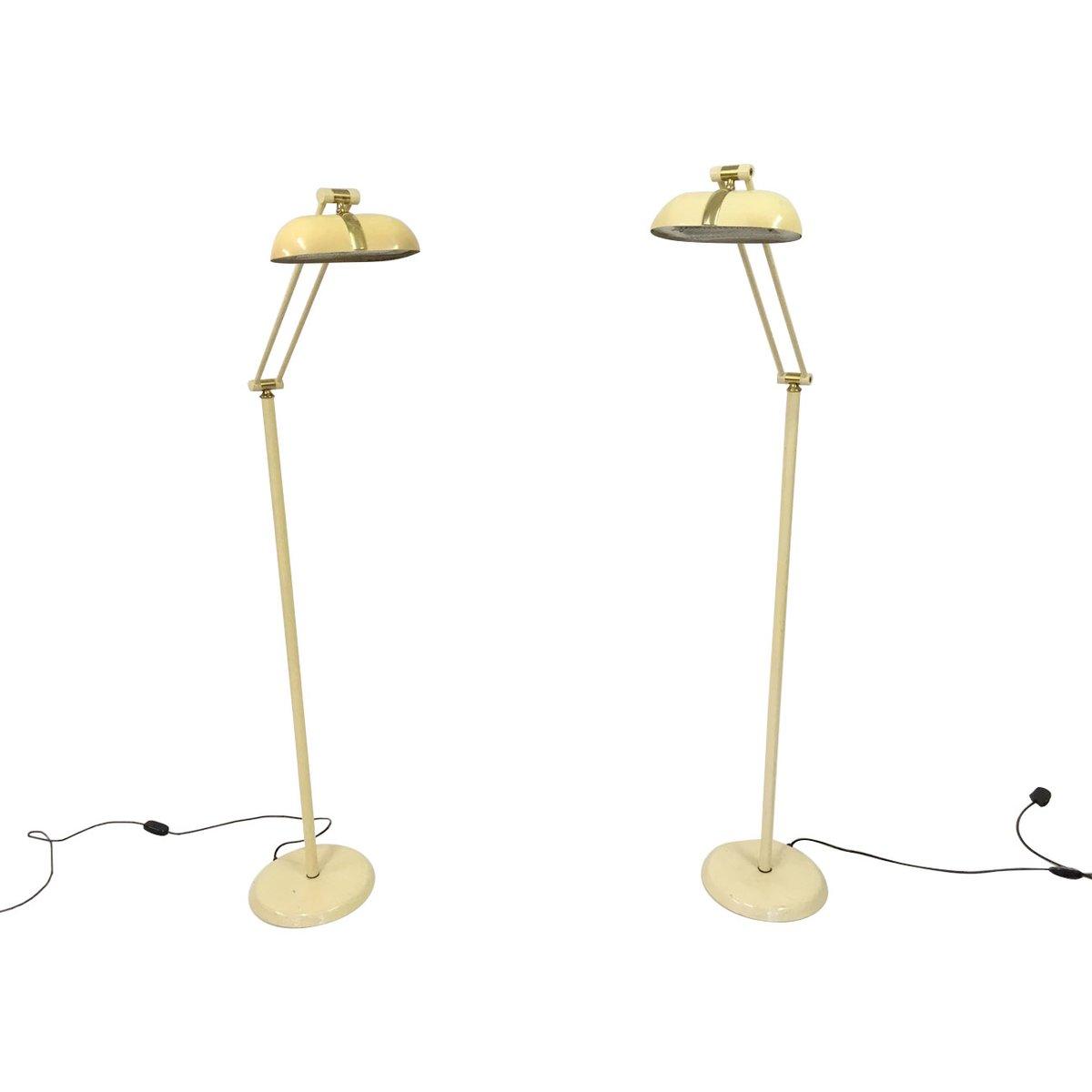 Stehlampe aus Messing und Metall, 1980er, 2er Set