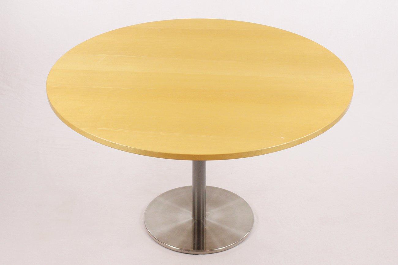 runder vintage tisch aus geb rstetem metall bei pamono kaufen. Black Bedroom Furniture Sets. Home Design Ideas