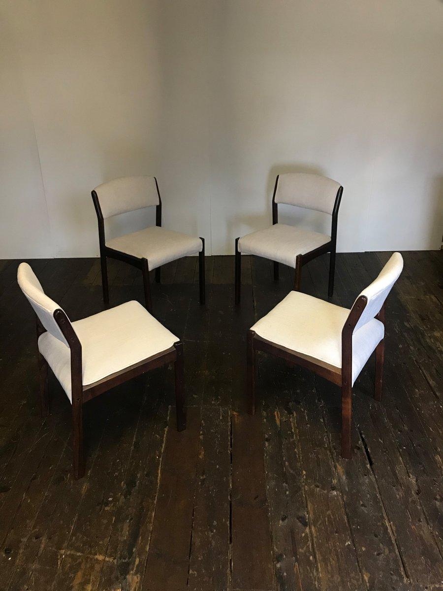 mid century esszimmerst hle aus palisander 4er set bei pamono kaufen. Black Bedroom Furniture Sets. Home Design Ideas