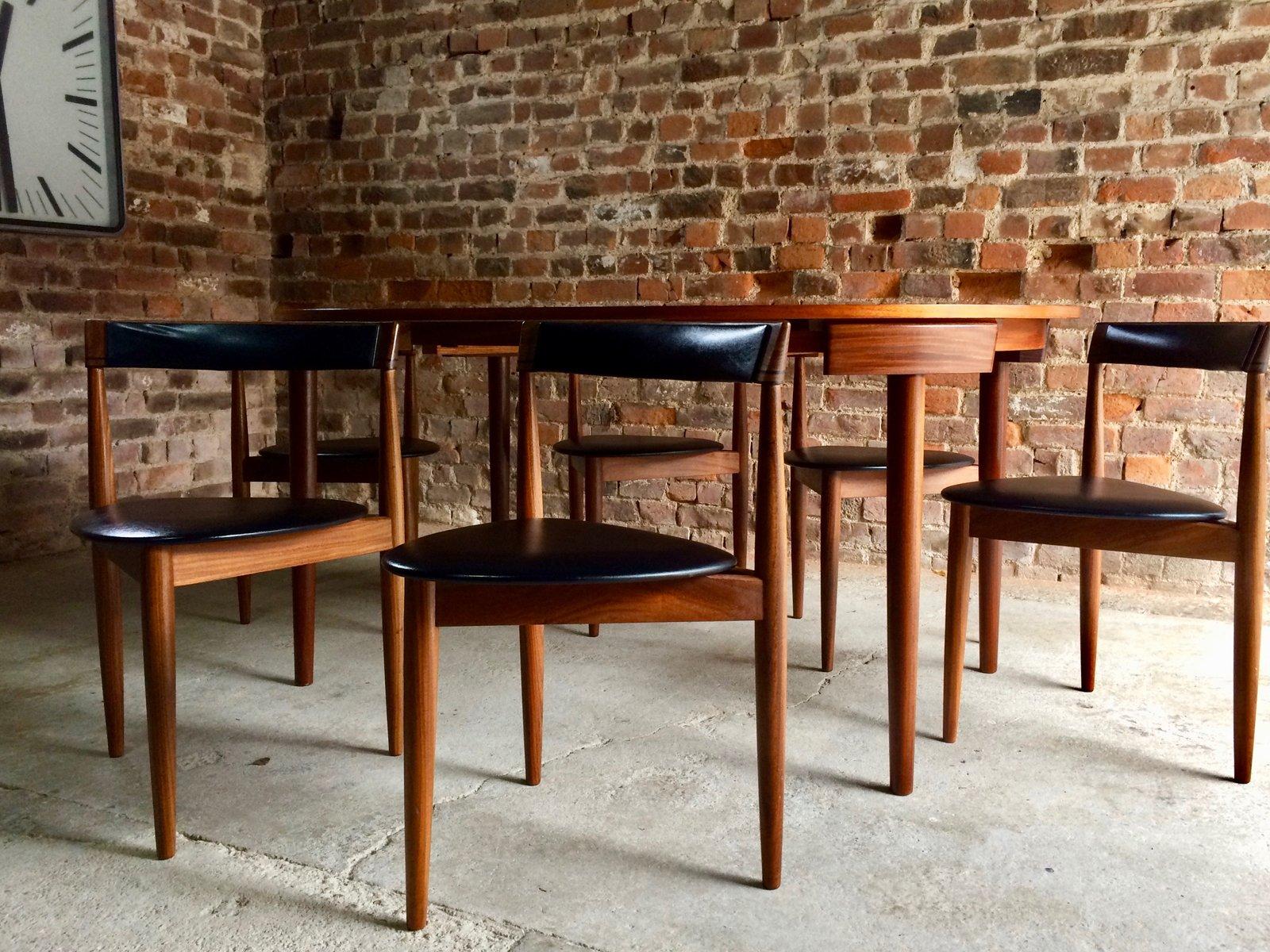 vintage dinette esstisch 6 st hle von hans olsen f r frem r jle 1960er bei pamono kaufen. Black Bedroom Furniture Sets. Home Design Ideas