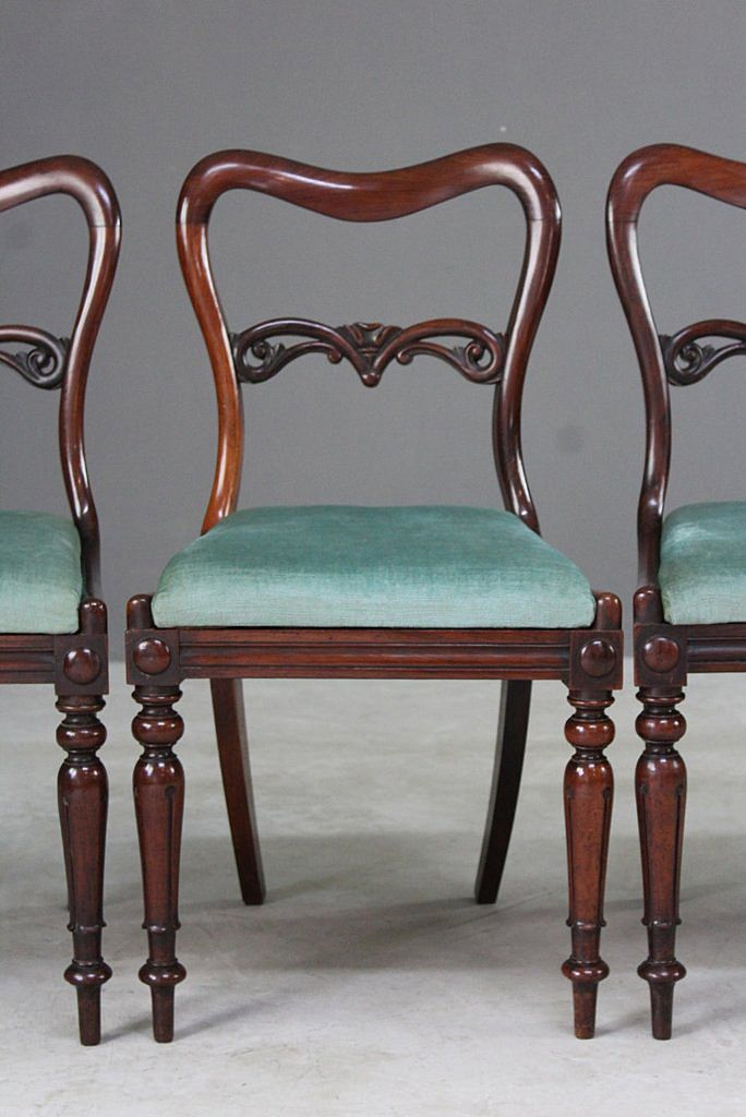 Antique Rosewood Dining Chairs, Set of 4 - Antique Rosewood Dining Chairs, Set Of 4 For Sale At Pamono