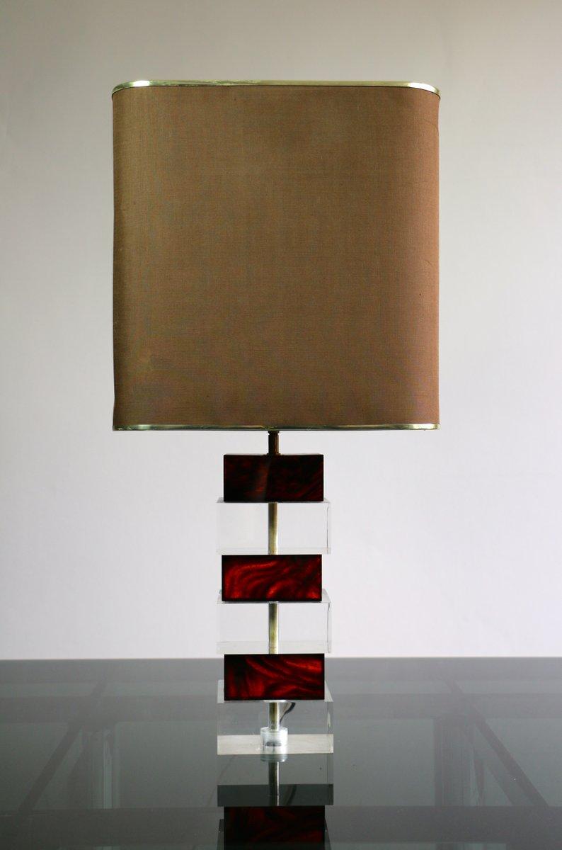 Lampe aus Plexiglas mit Gelenk, 1970er