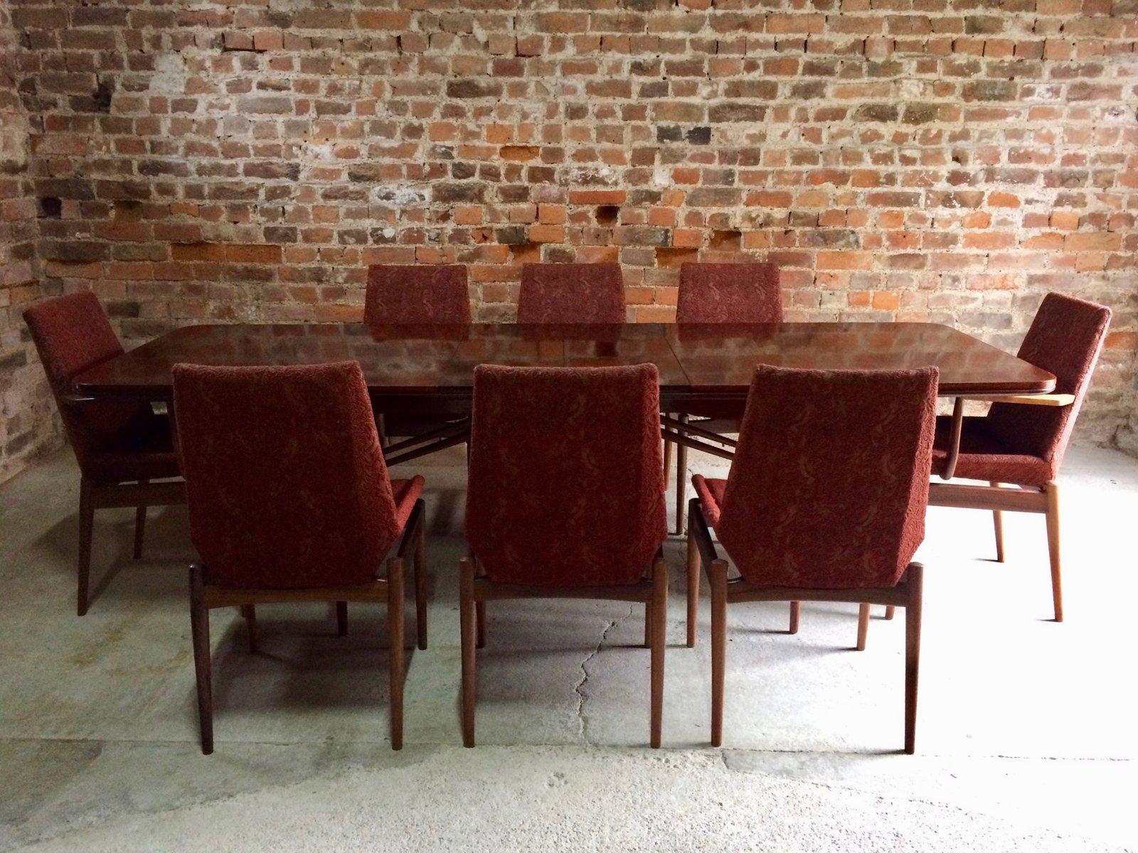 Table De Salle A Manger 8 Chaises Mid Century En Palissandre Par