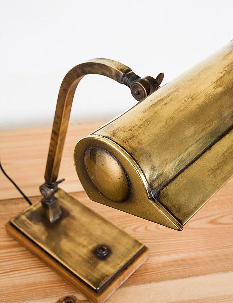 spanische mid century tischlampe aus messing und holz 1940er bei pamono kaufen. Black Bedroom Furniture Sets. Home Design Ideas