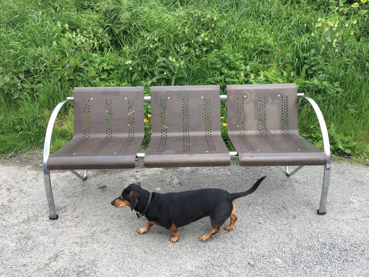 vintage industrial metal bench for sale at pamono. Black Bedroom Furniture Sets. Home Design Ideas