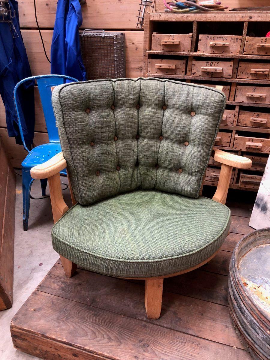 Vintage Sessel mit Strickmuster von Guillerme et Chambron für Votre Ma...
