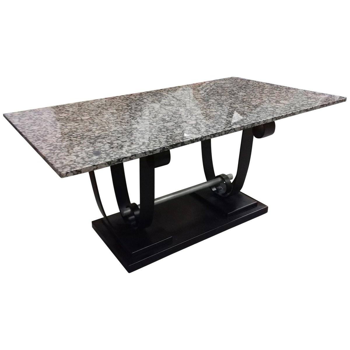 Art Deco Metal And Marble Table 1930s