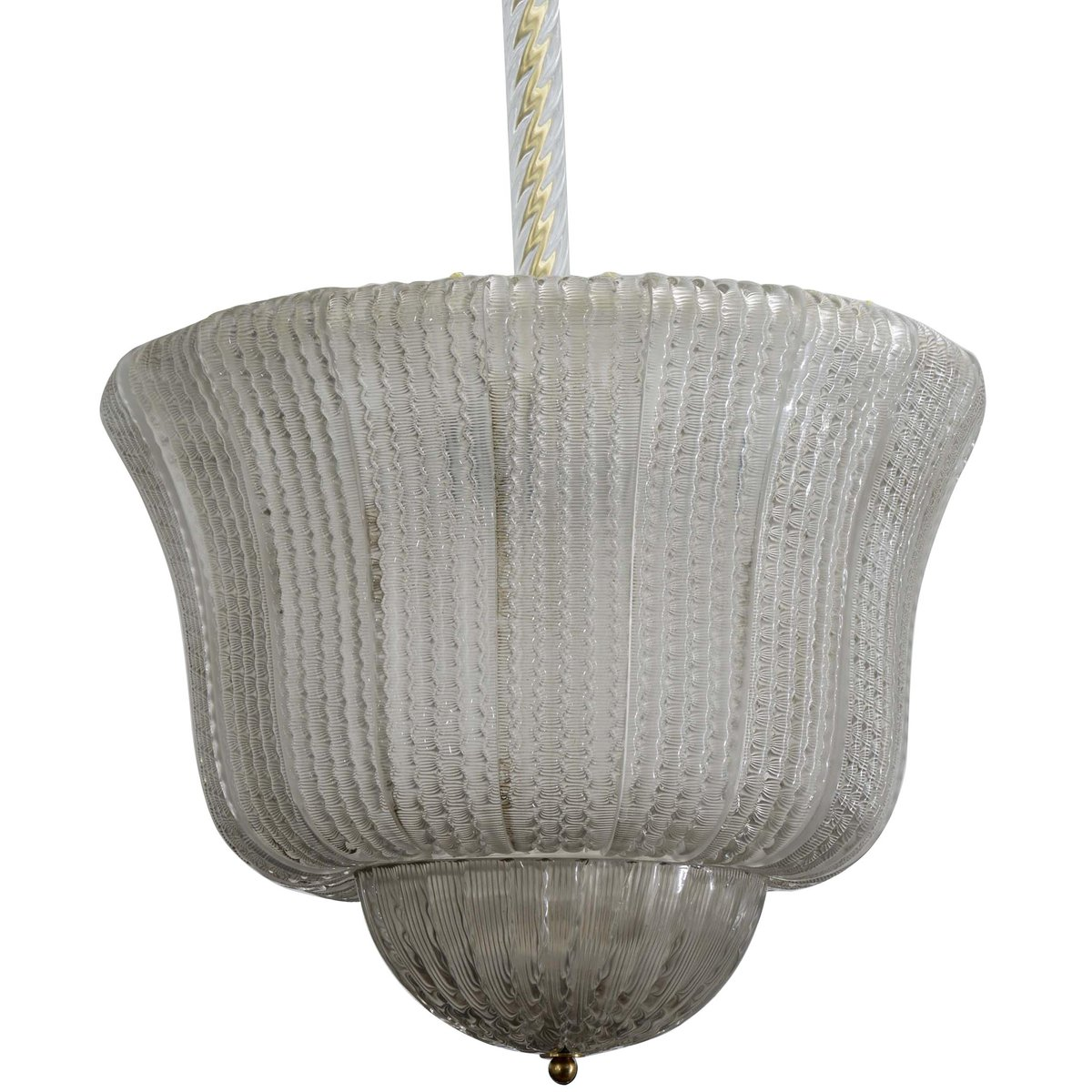 Vintage Hängelampe mit Muranoglasperlen