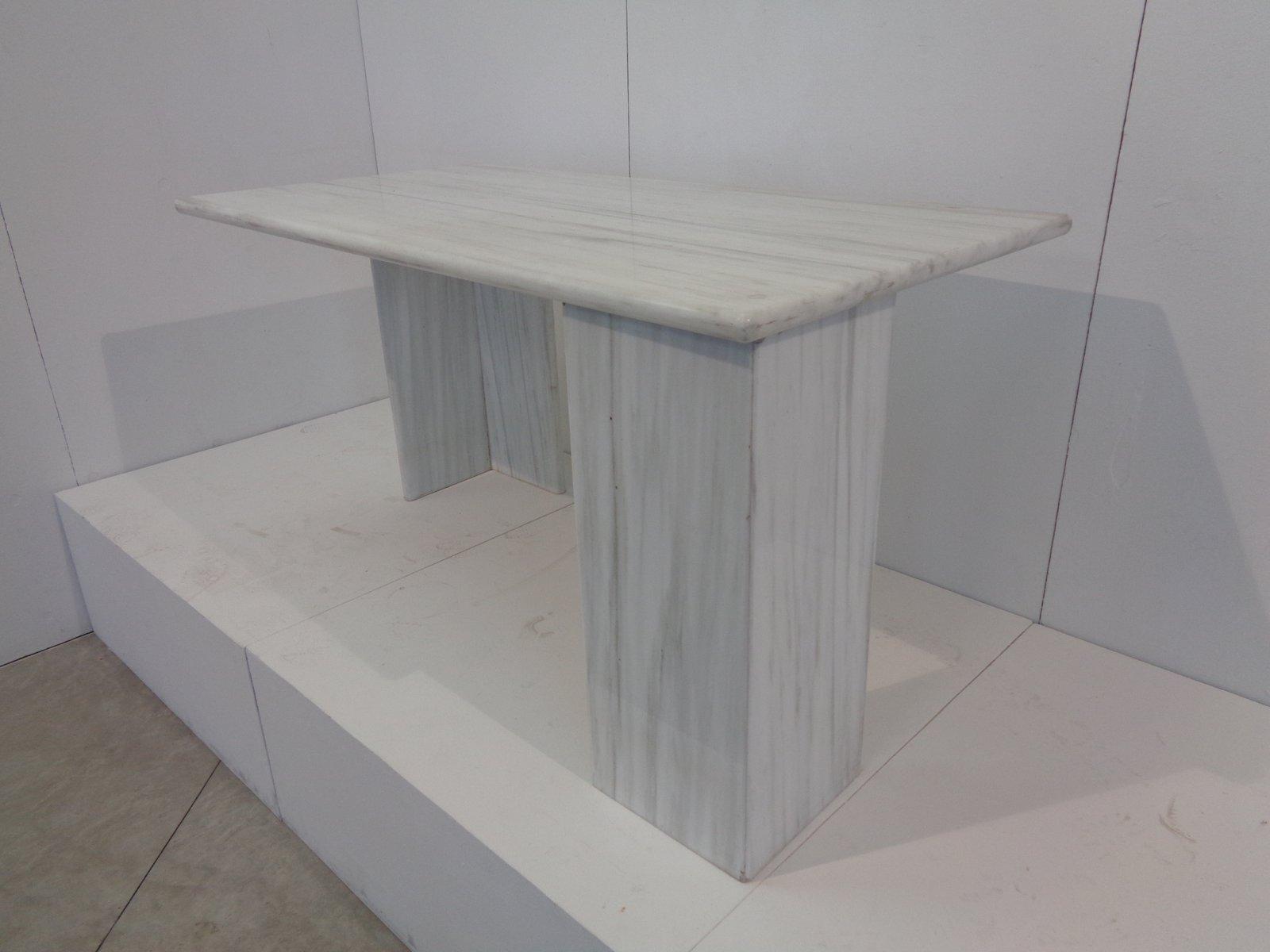 Weißer Vintage Esstisch aus Carrara Marmor von Bigelli Marmi, 1978