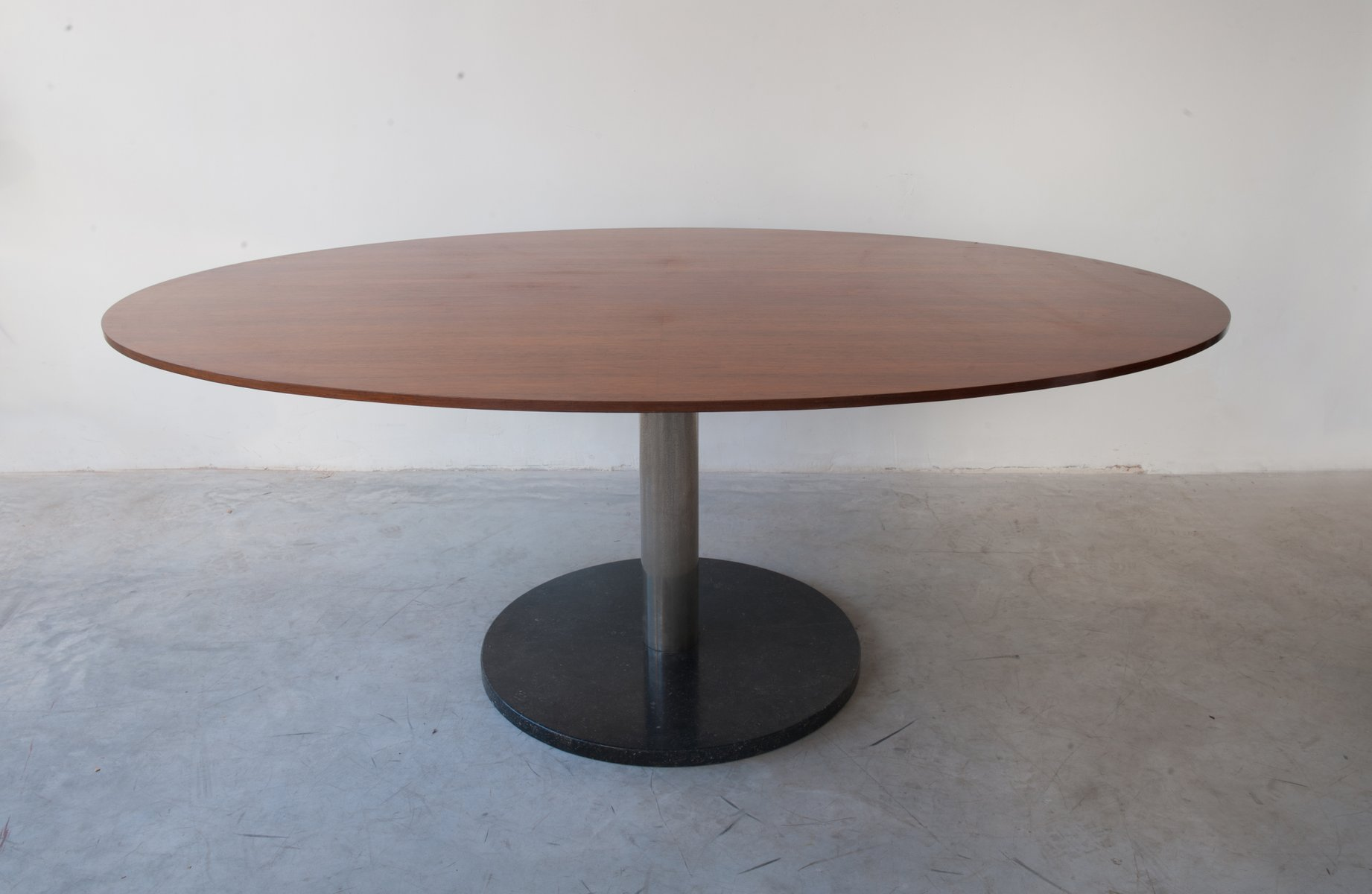 Oval Shaped Walnut Dining Table By Alfred Hendrickx For Belform