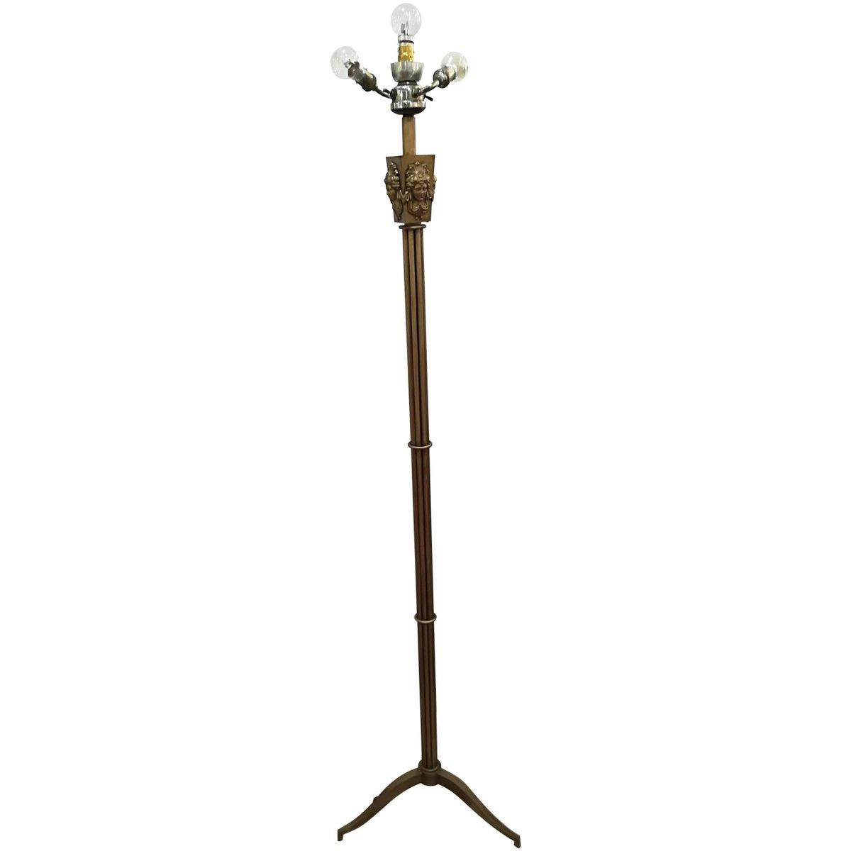 Französische Vintage Stehlampe aus Metall, 1940er