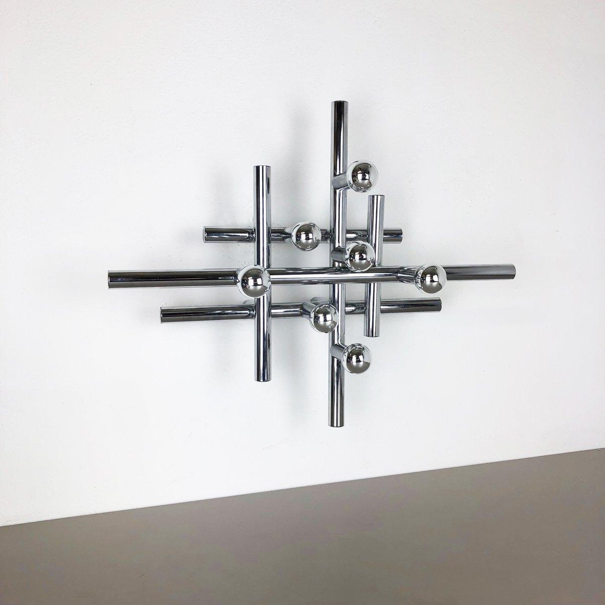 Moderne Sputnik Wandlampe aus Chrom von Temde, 1970er